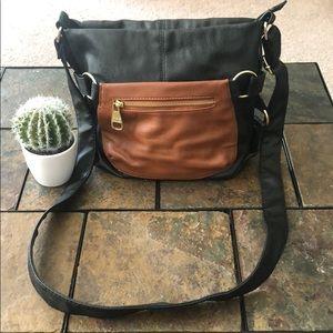 Black/Brown small crossbody purse